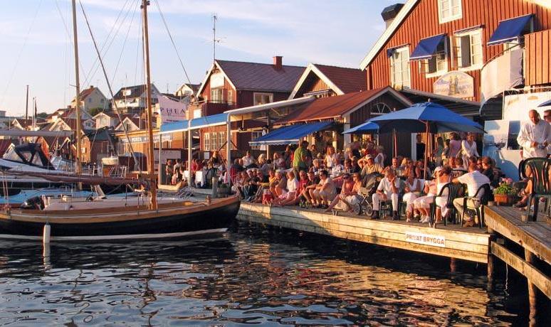 Vi anbefaler koselige Stora Hotellet Bryggan i Fjällbacka